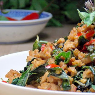 Thai Basil with Minced Pork Stir-Fry (Pad Horopha)