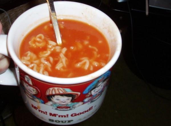 Easy Tomato  Top Ramen Soup Recipe