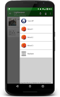 Screenshot of Lightwaver for LightwaveRF™