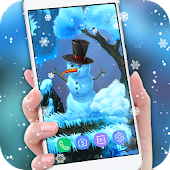 Winter Snowfall 3D Live HD Wallpaper Free
