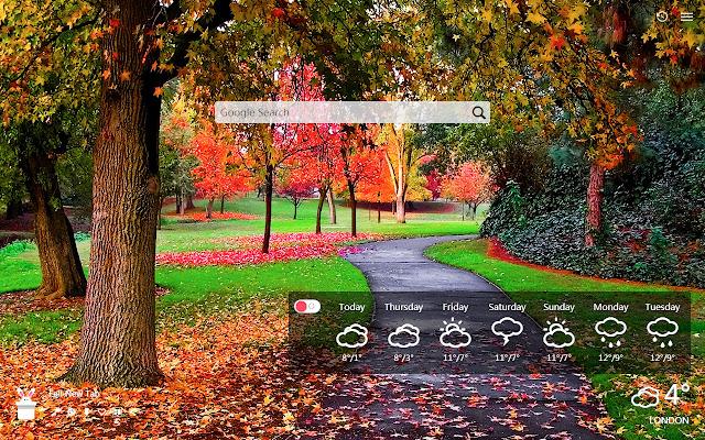 Fall New Tab, Wallpapers HD