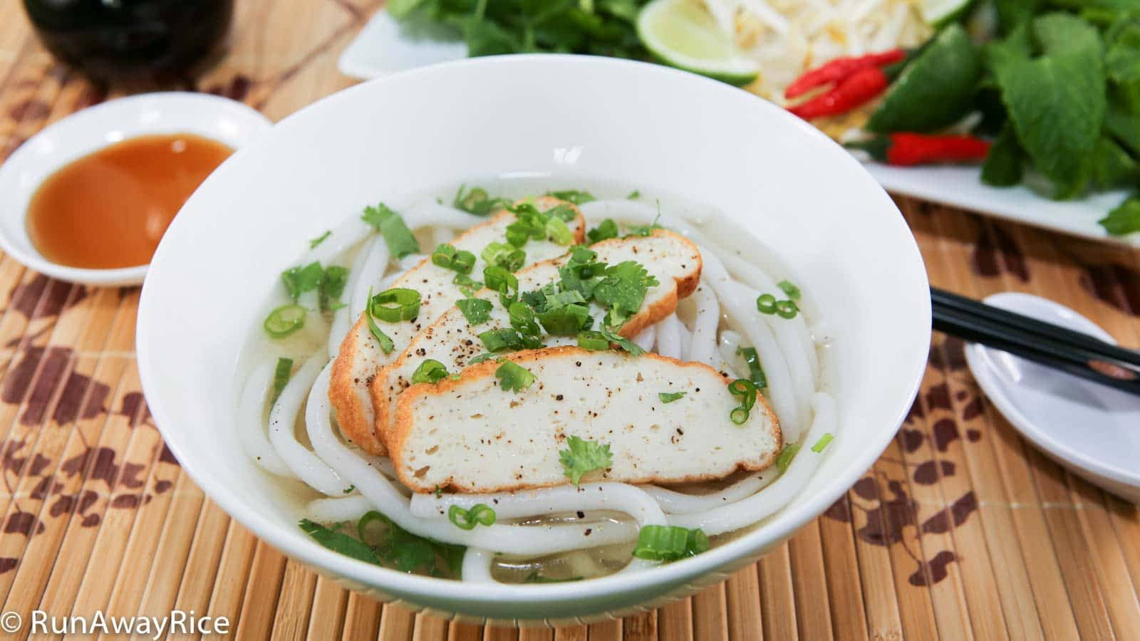 Thick Noodles and Fish Cake Soup (Banh Canh Cha Ca)