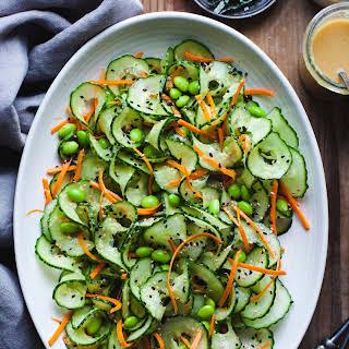 Sesame Ginger Miso Cucumber Salad.
