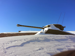 Photo: Theres a tank...covered in snow