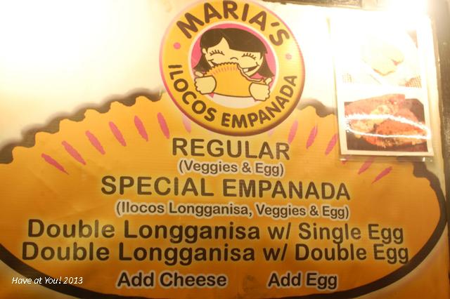 Maria's Ilocos Empanada signage