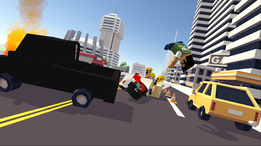 Blocky Moto Racing 🏁 - pilote moto APK MOD (Astuce) screenshots 3