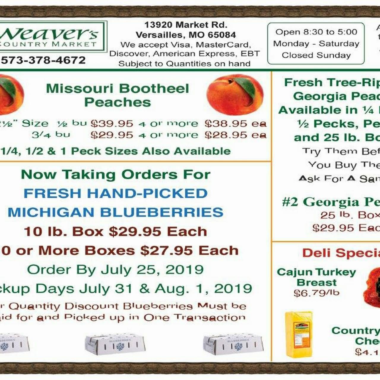 Weaver's Country Market, Inc  - Bulk Foods, Bulks Spices