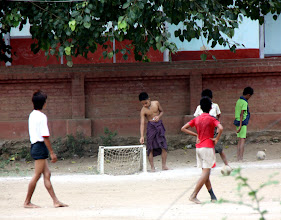 Photo: Year 2 Day 57 - Locals Playing Football in Bagan