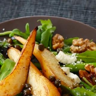 Caramelized Pear & Asparagus Salad with Caper Vinaigrette