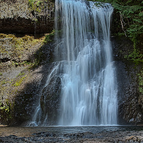 Upper North Falls by Craig Pifer - Landscapes Waterscapes ( oregon, waterscape, silver falls state park, waterfall, upper north falls )