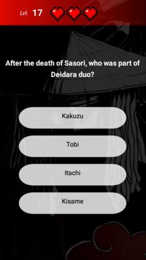 Akatsuki Quiz 1.0.0 screenshots 1