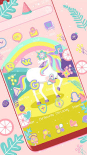 Cute Rainbow Unicorn Wallpaper Seems To Be In A Cartoon Starry World Unicorns Smile At You That Lovely Melted Your Heart Can Not Resist