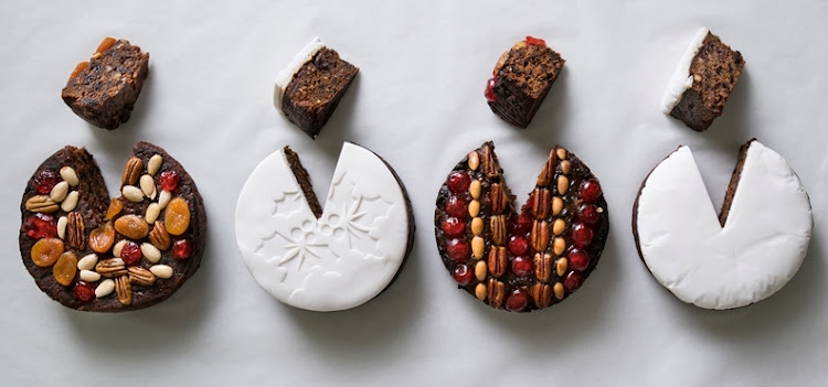 Christmas cakes from left: Checkers, Woolworths, Pick n Pay and SPAR.