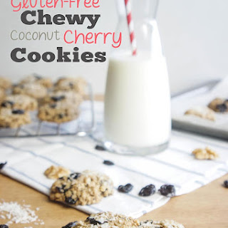 Gluten-Free Chewy Cherry Coconut Cookies.