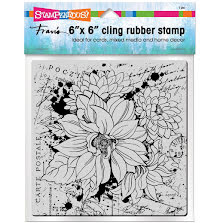 Stampendous Cling Stamp 6x6 - Dahlia Collage