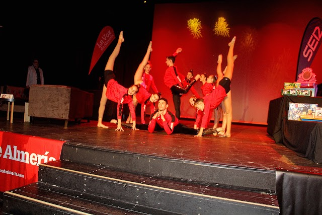El Club de gimnasia rítmica Purpurina participó en el Récord Solidario.