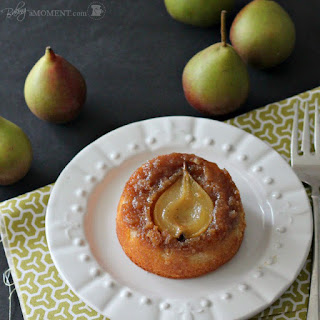Pear Vanilla Upside Down Cakes