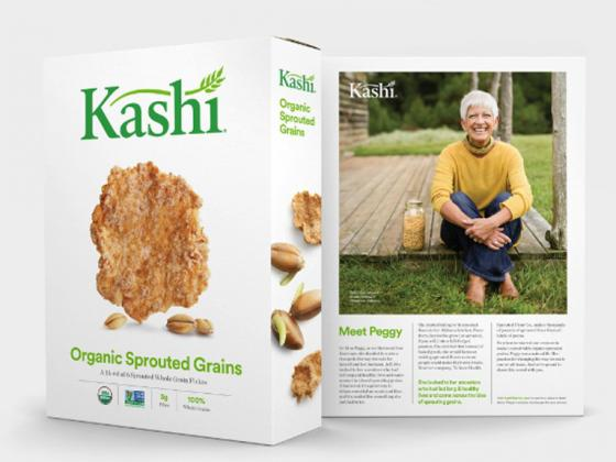 Cool packaging on a box of Kashi organic grains