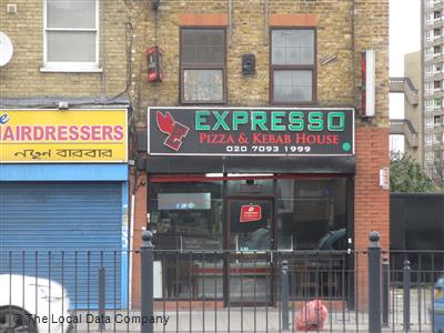 Expresso Pizza Kebab House On East India Dock Road Fast
