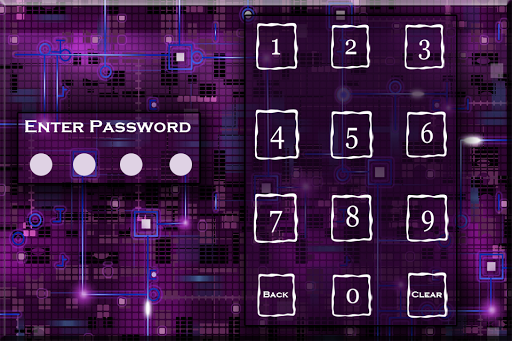 Screen Passcode Lock Abstract