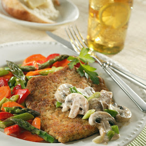 Pork Scaloppine With Mushroom Cream Sauce