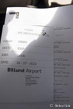 Photo: Veldig bra service på Billund Lufthavn. Mappe dedikert til oss var ferdig skrevet ut med NOTAM og METAR/TAF for ruten.