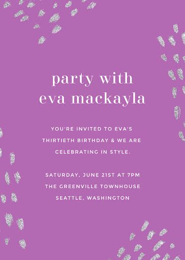 Eva's 30th Birthday - Birthday Card template