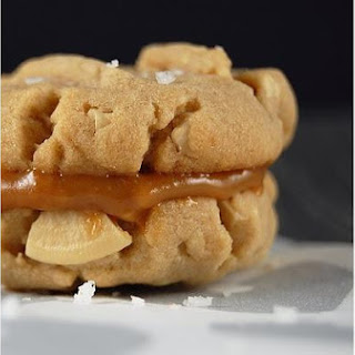 Salted Cashew Cookies With Dulce De Leche