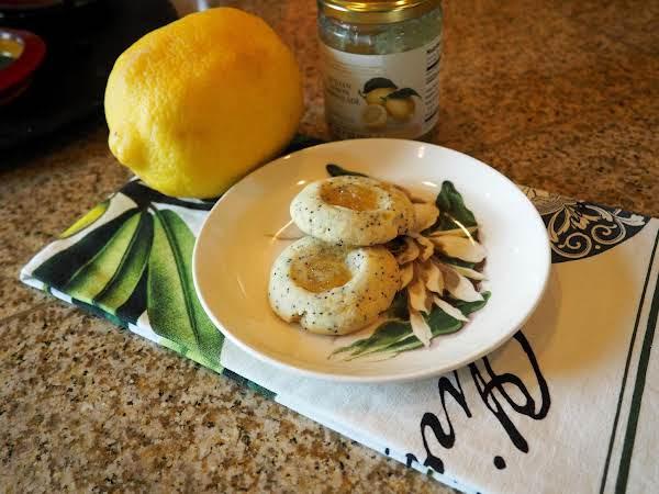 Lemon Poppy Seed Thumbprints. Simply Luscious!