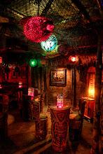 Photo: Tiki Table for Two  Frankie's Tiki Room in Las Vegas