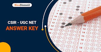 CSIR UGC NET Answer Key 2020 (Out) - June/December Session