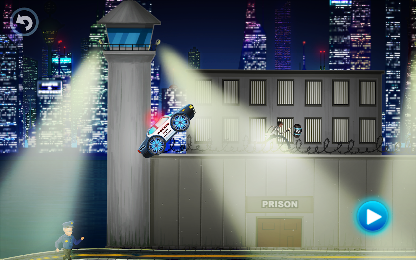 Police car racing for kids- screenshot