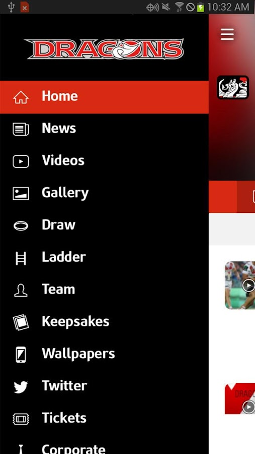 St George Illawarra Dragons- screenshot