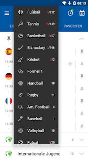 SofaScore Live Ticker Screenshot