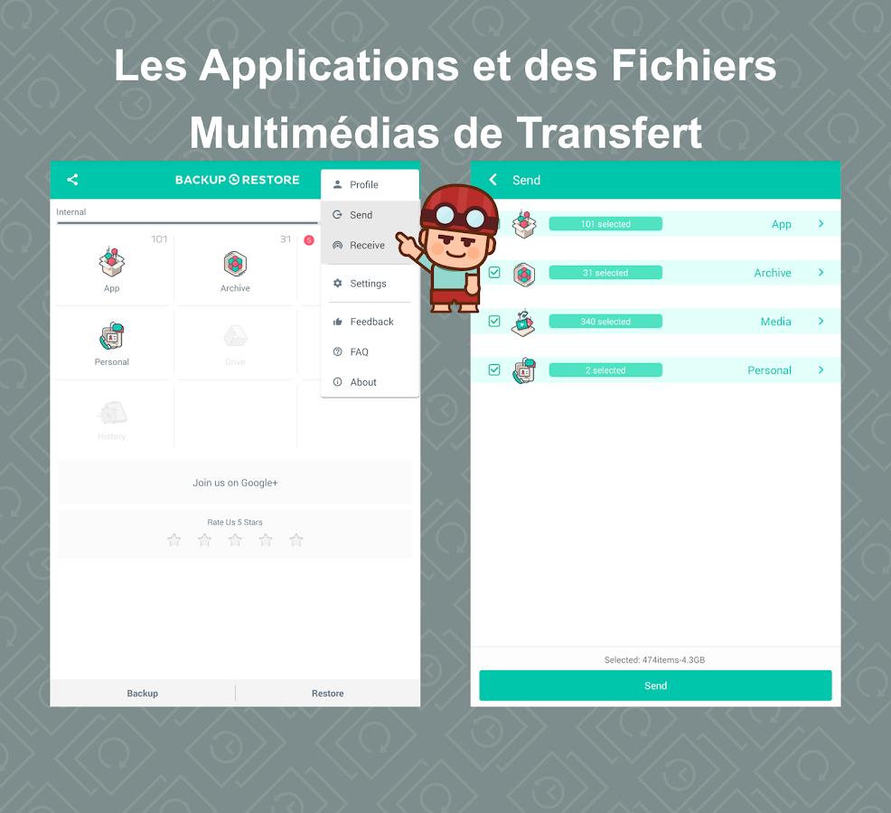 app backup restore transfer applications android sur google play. Black Bedroom Furniture Sets. Home Design Ideas