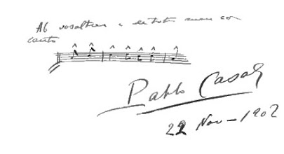"Photo: Pau Casals signature at the ""Llibre de l'Orfeo"" - Biblioteca de l'Orfeo Catala"