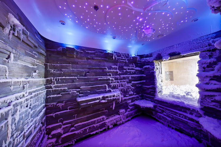 Chill out after a thermal treatment in the spa in Norwegian Escape's Snow Room. It's being touted as beneficial to blood circulation and the immune system.
