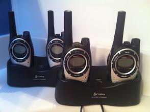 Photo: Radios walkie-talkie; Williams personal