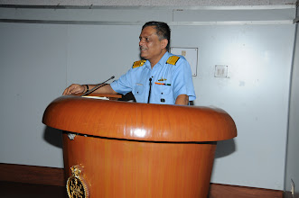 Photo: Rear Admiral P. C. Lal, Chief Technical Officer Commanding, Western Naval Command thanking CSI team.