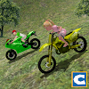 Mountain Kids MotorBike Riding