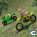 Mountain Kids MotorBike Riding Icon