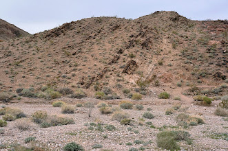Photo: Frenchman Mountain is made up of rocks similar to those found on the bottom of the Grand Canyon; it formed when faulting elevated and tilted the rocks followed by erosion, giving it its sharp triangular profile.
