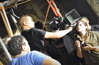 Photo: DOP Tarek HEfny and his assistant Noha El Ostaz On the set of Rags & Tatters - Cairo 2013