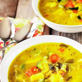 Potato Leek, Carrot and Zucchini Soup (Vegan) Recipe