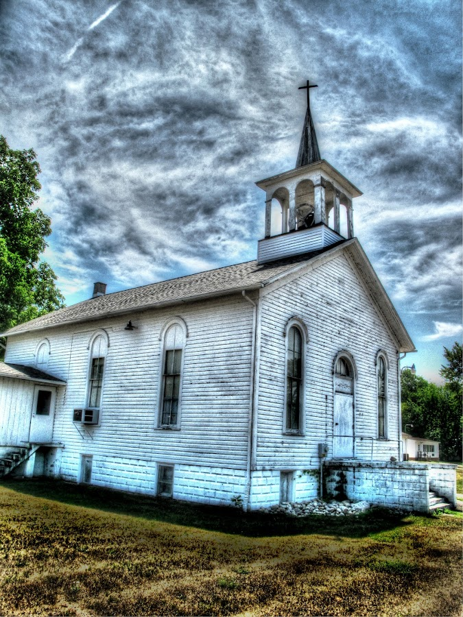 country church by JoAnn Palmer - Buildings & Architecture Places of Worship ( building, church )