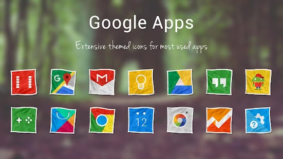 Crushed Paper - Icon Pack 5.0.2 Apk