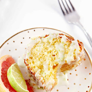 Paloma Citrus Cake with Tequila-Lime Glaze.