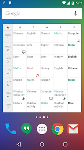 New Timetable (Widget) - 2019 Screenshot