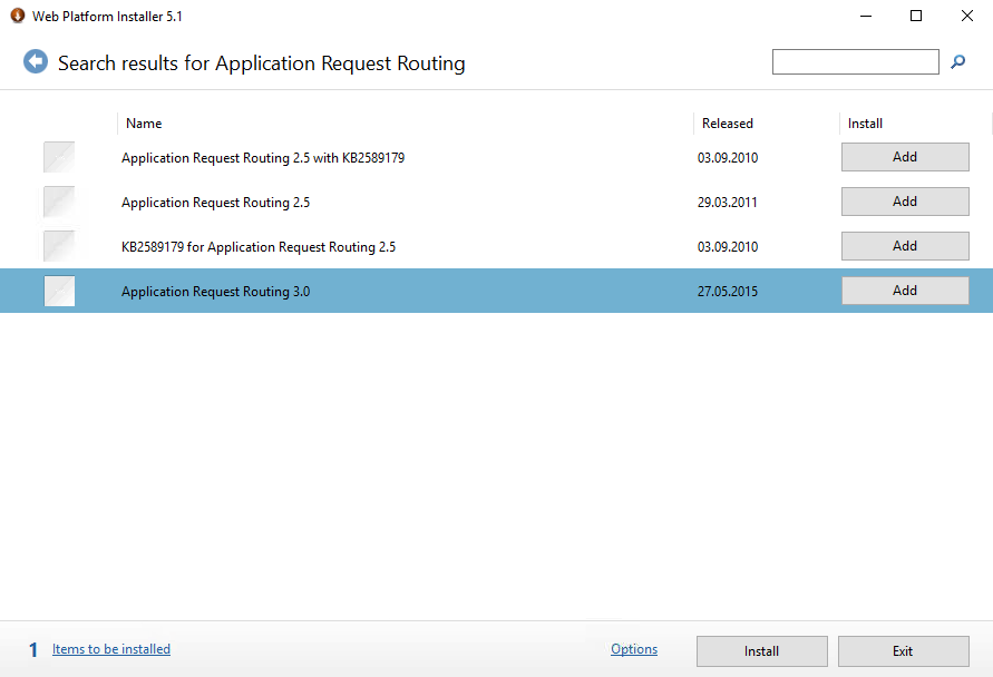 Application Request Routing Modul