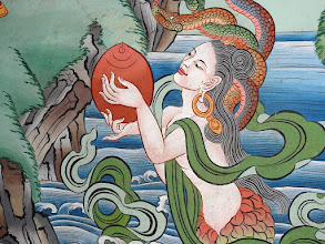 Photo: Visite de la gompa de Saldang (peintures de Norbu)